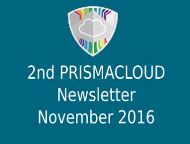2nd PRISMACLOUD Newsletter - November 2016