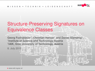 Structure-Preserving Signatures on Equivalence Classes