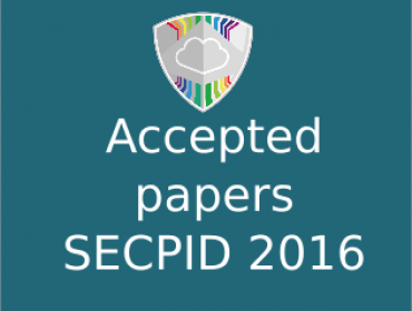 Accepted papers at SECPID 2016 EU Symposium - ARES 2016