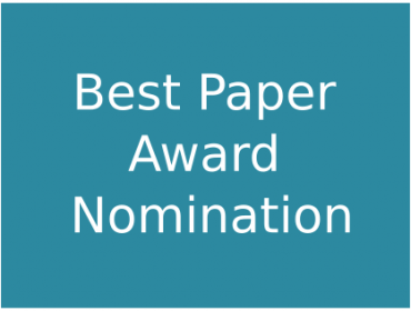Best Paper Award Nomination