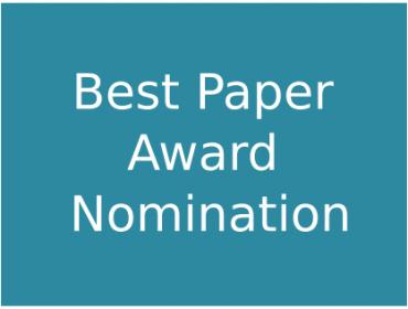 Best Paper Award Nomination
