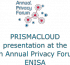 PRISMACLOUD Presentation at ENISA Annual Privacy Forum 2016