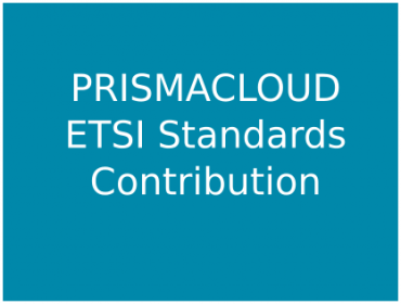 PRISMACLOUD Contribution to ETSI Standards