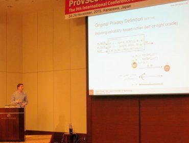 PRISMACLOUD at ProvSec 2015 in Kanazawa